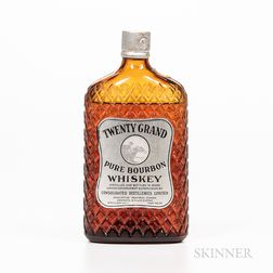 Twenty Grand Pure Bourbon Whiskey 1927, 1 pint bottle Spirits cannot be shipped. Please see http://bit.ly/sk-spirits for more info.