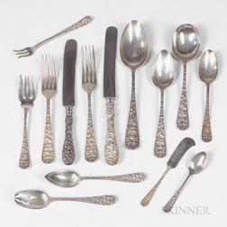 Schofield Co. Baltimore Rose Pattern Sterling Silver Flatware Set