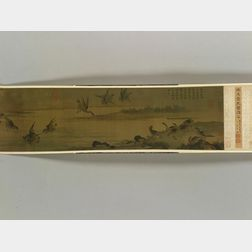 Oval Wallpaper Covered Band Box,