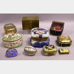 Ten Assorted Small Decorated Boxes
