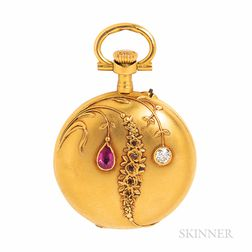 Antique 18kt Gold Gem-set Hunting Case Pocket Watch