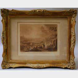 Richard Earlom (British, 1743-1822) engraver, After Claude Lorrain (French,      1600-1682)    Pair of Landscape Prints