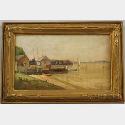 George William Whitaker (American, 1841-1916)      At Greenport, L.I.