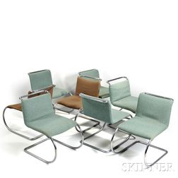 Eight Mies van der Rohe MR Chairs