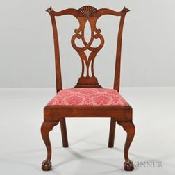 Carved Cherry Side Chair