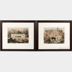 Stephens, John Lloyd (1805-1852) [and] Frederick Catherwood (1799-1854) Two Prints from Incidents of Travel in Yucatan.