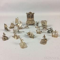 Group of Dutch Silver Miniature Figurines