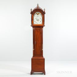 Simon Willard Inlaid Mahogany Isaiah Thomas Jr. Labeled Tall Clock