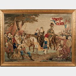 Embroidered History Picture of Mary Queen of Scots