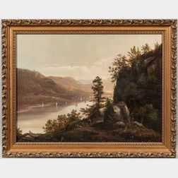 American School, 19th Century      Expansive Hudson River View