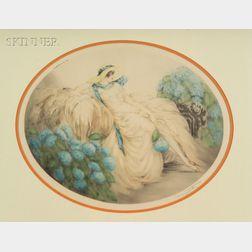 Louis Icart (French, 1888-1950)    Les Hortensias