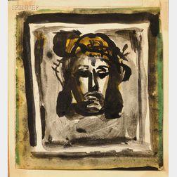 Georges Rouault (French, 1871-1958)      La Sainte Face (esquisse)