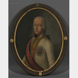 German or Austrian School, 19th Century      Portrait of a Nobleman, thought to be Ferdinand III, Grand Duke of Tuscany (1769-1824)