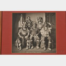 Framed Photograph of an Otoe Delegation