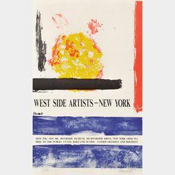Theodoros Stamos (Greek/American, 1922-1997)      West Side Artists - New York