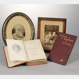 Whitman, Walt (1819-1892) Two Related Titles and Three Photographs of William Ingram.