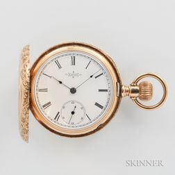 Elgin 14kt Gold Lady's Hunter Case Watch