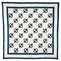 Pieced Geometric Cotton Quilt