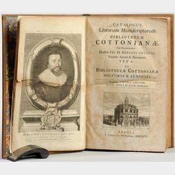 Smith, Thomas (1638-1710) Catalogus Librorum Manuscriptorum Bibliothecae Cottonianae.