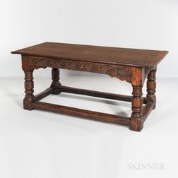 Jacobean Carved Oak Refectory Table