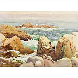 *Robert Ford Gagen (Canadian, 1847-1926)  The Rocky Coastline