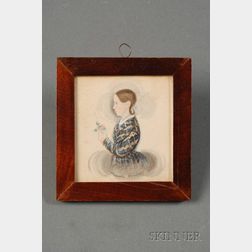 James Sanford Ellsworth (American, 1802/03- 1874)      Portrait Miniature of Ruth Perkins Pomeroy.