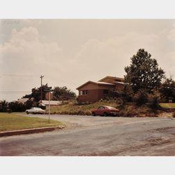 Stephen Shore (American, b. 1947)      Sutter St. + Crestline Rd., Fort Worth, Texas 6/3/76
