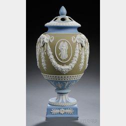 Wedgwood Three-color Jasper Dip Potpourri Vase and Covers