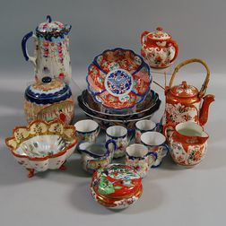 Sixteen Pieces of Assorted Japanese Porcelain