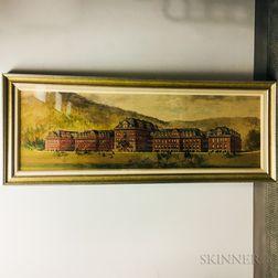Hughson Hawley (American, 1850-1936)      Architectural Watercolor Rendering