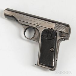 Fabrique Nationale Model 1910 Semiautomatic Pistol