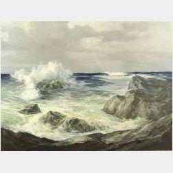 Peter Winthrop Sheffers (American, 1893-1949)  Rockbound, Coast Near Ogunquit, Maine