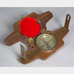 Brass Plain Surveyor's Compass by Benjamin Cole