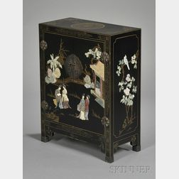 Inlaid and Black Lacquered Cabinet