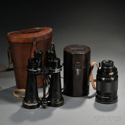 Nikkor Lens and a Pair of Barr & Stroud Binoculars