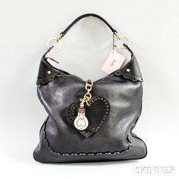 Luella Black Leather Hobo Bag