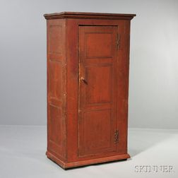 Red-painted Cupboard