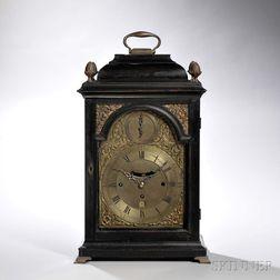 Isaac Rogers Ebonized Quarter-chiming Table Clock