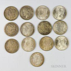 Ten Morgan Dollars and Three Peace Dollars