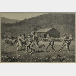 Edward Lagarde (American, 19th Century), After Winslow Homer (American, 1836-1910)      Snap-the-Whip