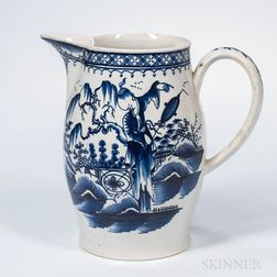 Chinoiserie-decorated Pearlware Jug