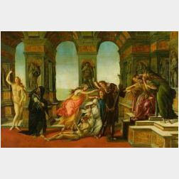 After Sandro Botticelli (Italian, 1444-1510)  Calumny