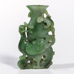 Green Hardstone Vase