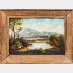 American School, Late 19th Century      Mountain Landscape