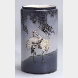 Willets Belleek Porcelain Cylindrical Vase