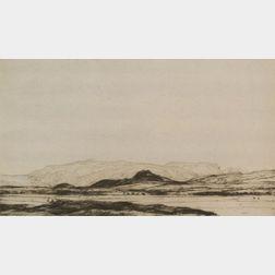 Sir David Young A. Cameron (British, 1865-1945)    Lot of Four Landscapes:  Perth Bridge