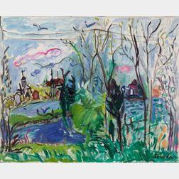 Marilyn Powers (American, 1925-1976)    Hingham, Massachusetts, Nera Abadessa's