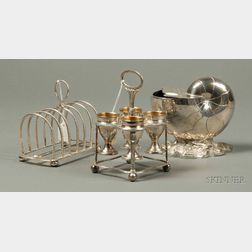 Three English Silver Plate Table Articles