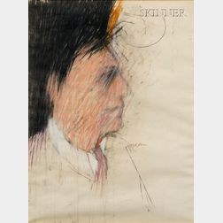 Richard Marshall Merkin (American, b. 1938)      Portrait of a Man in Profile