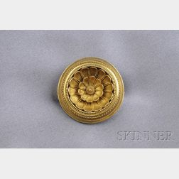 Etruscan Revival Gold Brooch, Italy